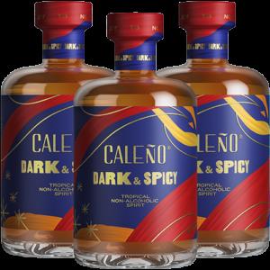 3 bottles of Caleno Dark & Spicy