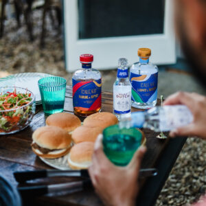 BBQ outside with Caleno Bottles